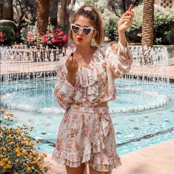 5cf0d093 Zara Other | Nwt 2 Piece Ruffled Floral Blouse Skirt Set | Poshmark